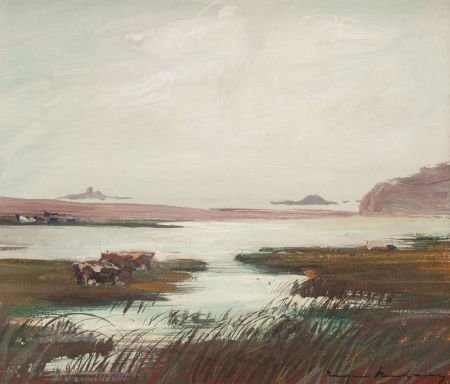 70005: EUGEN NEUHAUS (American, 1879-1963) Quiet Marshl