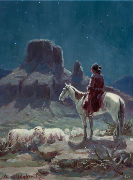 70013: OLAF WIEGHORST (American, 1899-1988) Navajo Shep