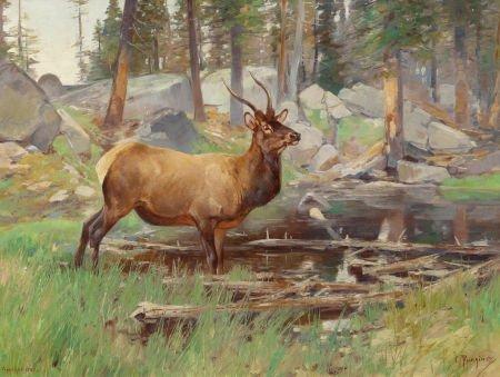 70024: CARL CLEMENS MORITZ RUNGIUS (American, 1869-1959