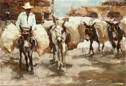 70117: RAMON KELLY (American, b. 1939) Burro's Burros,