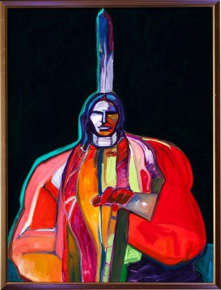 50009: JOHN NIETO, AMERICAN (b. 1936) Oglala Sioux Chie
