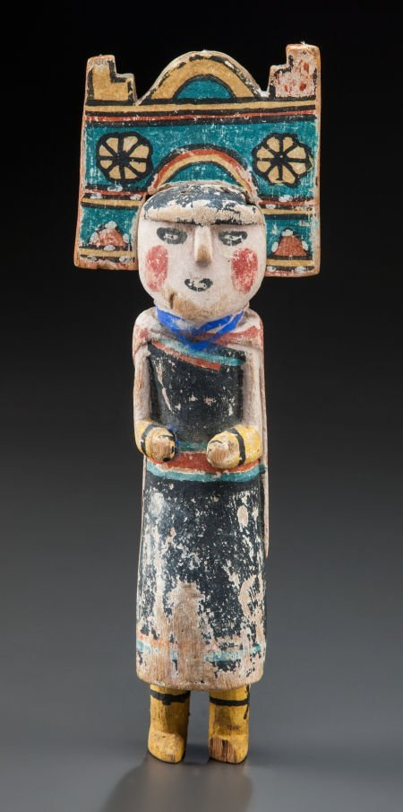 50014: A HOPI COTTONWOOD KACHINA DOLL c. 1900