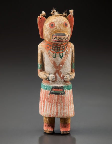 50015: A HOPI COTTONWOOD KACHINA DOLL c. 1900