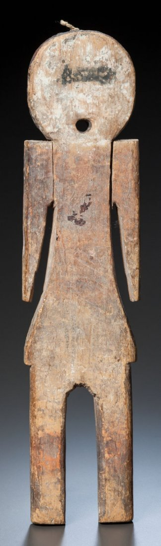 50016: A PUEBLO PAINTED WOOD FLAT DOLL c. 1890