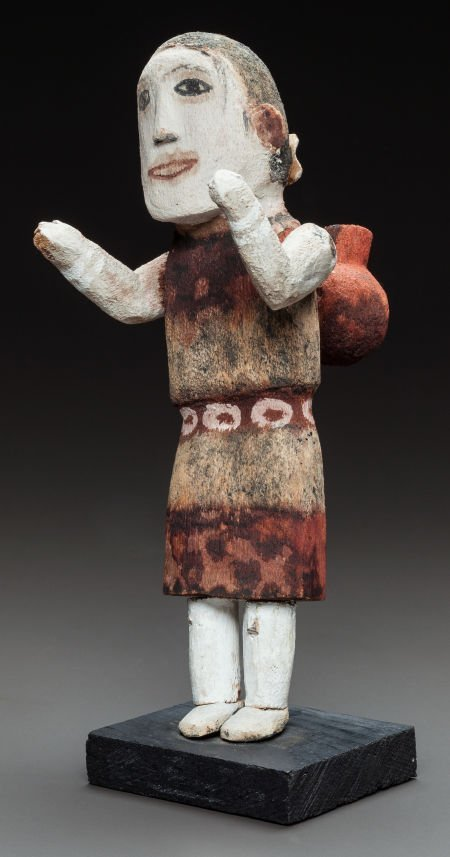 50018: A HOPI COTTONWOOD KACHINA DOLL c. 1890