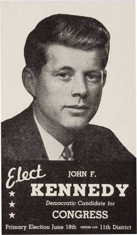 38006: John F. Kennedy: Congressional Campaign Card, 19