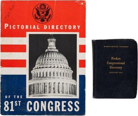 38007: John F. Kennedy: Congressional Directories, 1949