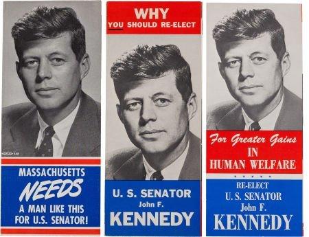 38008: John F. Kennedy: U.S. Senate Campaign Literature