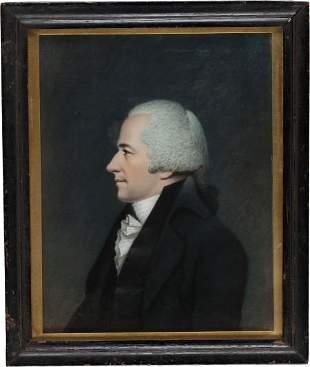 38112: Alexander Hamilton: Important Sharples Pastel Po