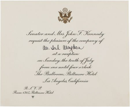 38019: John F. Kennedy: Democratic Convention Reception