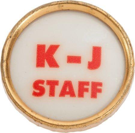 38023: John F. Kennedy: Kennedy Campaign Staff Pin, 196