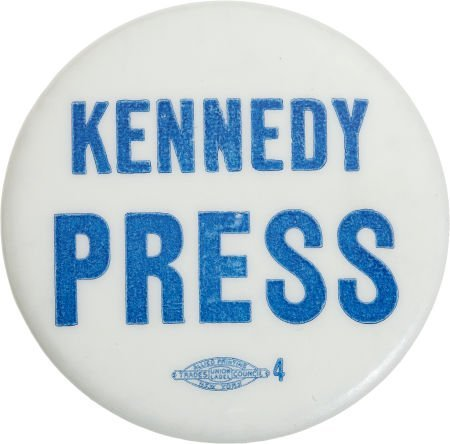 38024: John F. Kennedy: Kennedy Campaign Press Button,