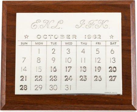 38070: John F. Kennedy: Sterling Silver Calendar Presid