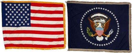 38077: John F. Kennedy: Two White House Oval Office Fla