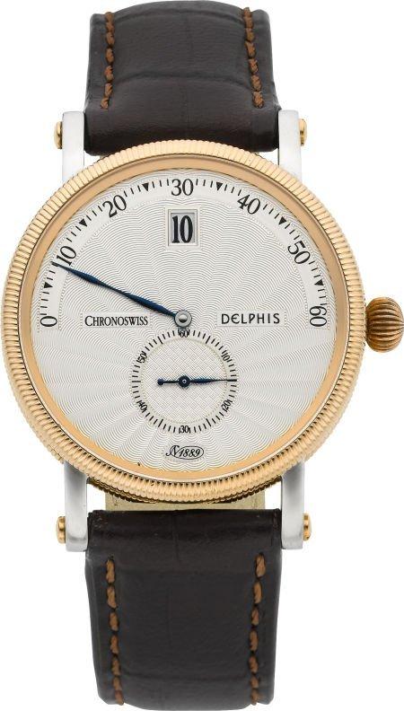 "61015: Chronoswiss CH 1423 R Steel & Gold ""Delphis"" Jum"