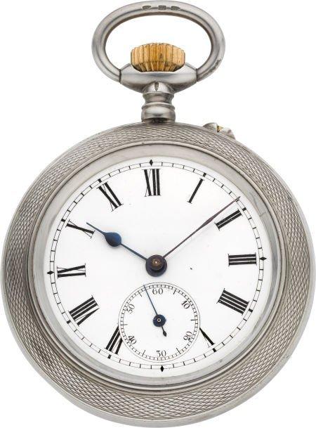 61020: Swiss Sterling Silver Patent Automaton Pocket Wa