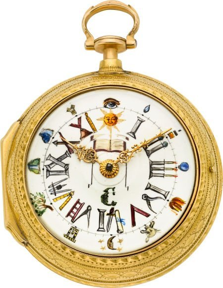 61024: Joseph Hitchin London Fine Gold Verge Fusee With