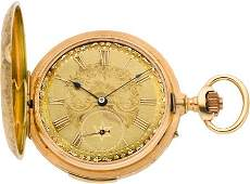 61142 Swiss Ornate Gold Minute Repeater With Fancy Dia