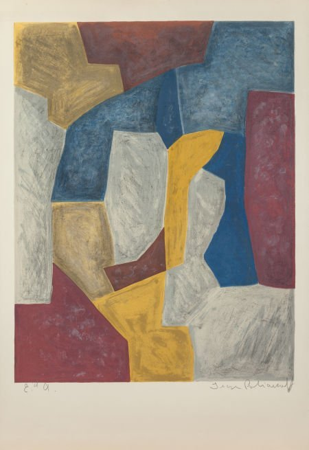 65001: SERGE POLIAKOFF (Russian, 1906-1969) Composition
