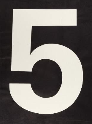 65106: JONATHAN BOROFSKY (American, b. 1942) Big 5 from