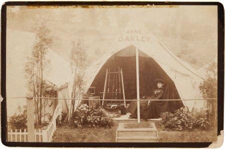 44001: Annie Oakley: A Sensational Cabinet Photograph o