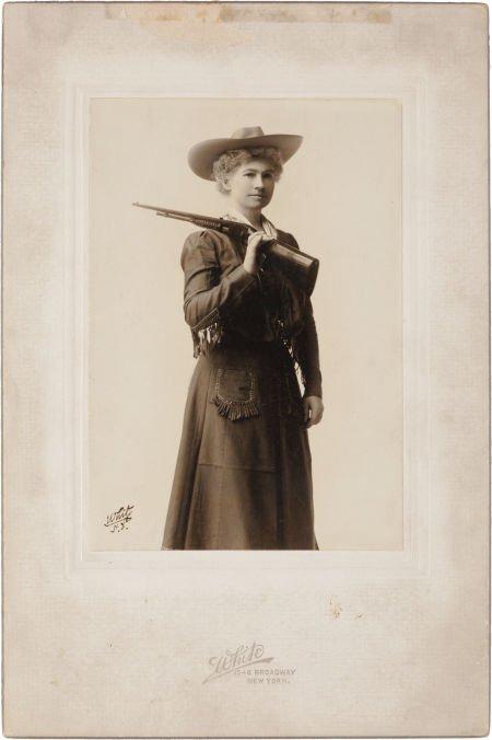 44004: Annie Oakley: Silver Gelatin Print, Circa 1903 b