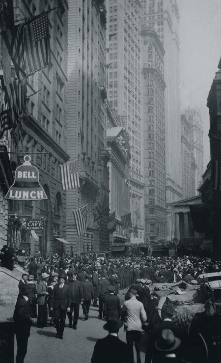 65013: ANONYMOUS (20th Century) Wall Street, circa 1920