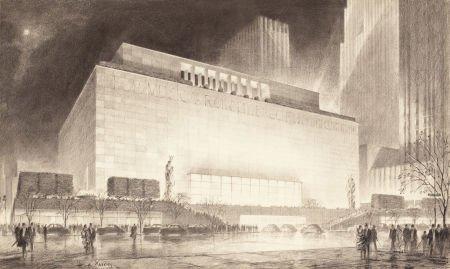 65004: HUGH FERRISS (American, 1889-1962) New York at N