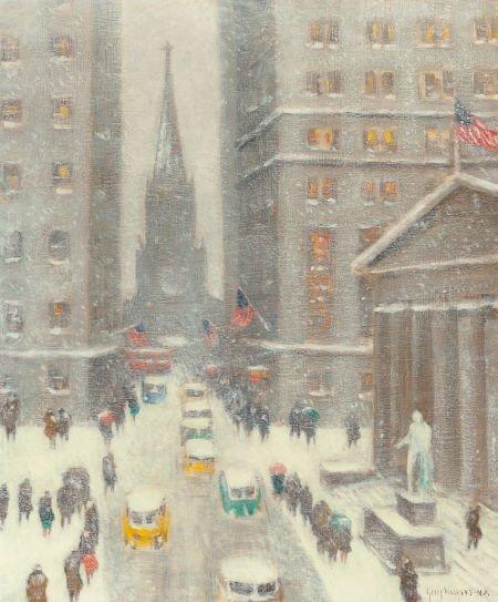 65021: GUY CARLETON WIGGINS (American, 1883-1962) Wall