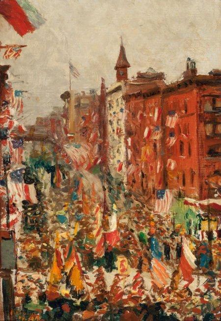 65022: AMERICAN SCHOOL (20th Century) Parade on York Av