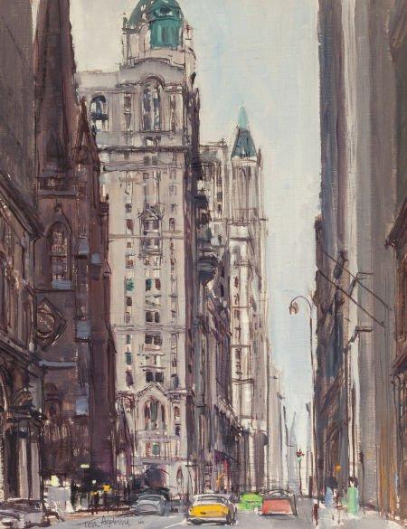 65023: TORE ASPLUND (American, 1903-1978) New York Stre