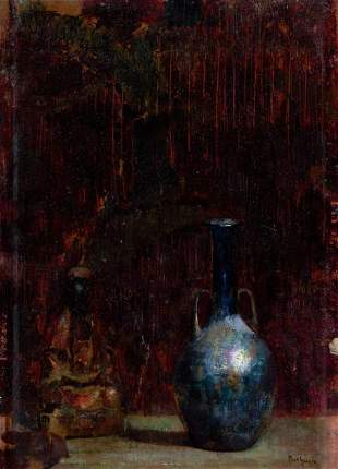 64144: HOVSEP PUSHMAN (American, 1877-1966) Blue Bottle