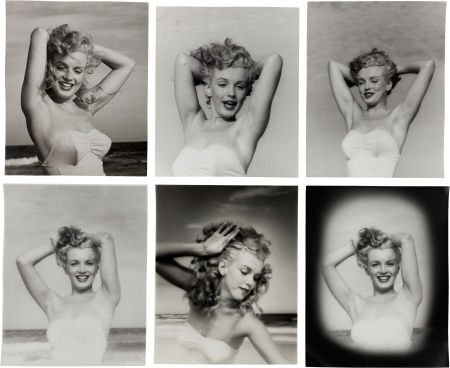 46006: A Marilyn Monroe Group of 'Arms Up' Black and Wh