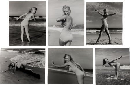 46007: A Marilyn Monroe Group of 'Bathing Suit' Black a