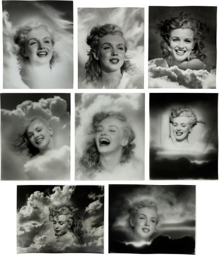 46010: A Marilyn Monroe Group of 'Clouds' Black and Whi