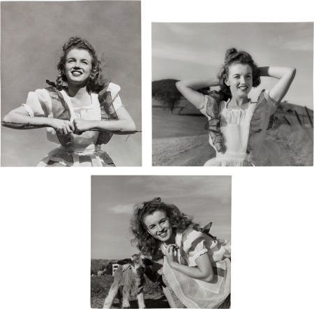 46012: A Marilyn Monroe Group of 'Farm Girl' Black and