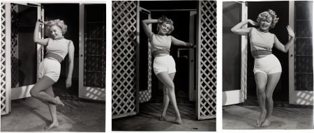 46014: A Marilyn Monroe Group of 'White Shorts' Black a