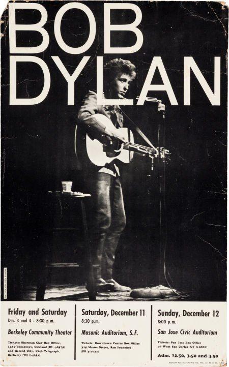 Bob Dylan Berkeley/San Francisco/San Jose Concer