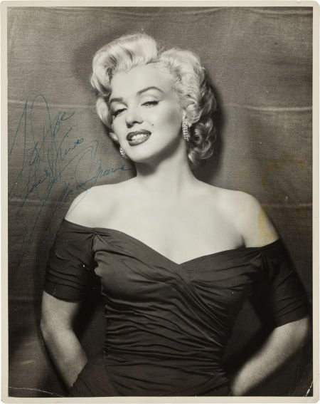 46001: A Marilyn Monroe Signed Black and White Photogra