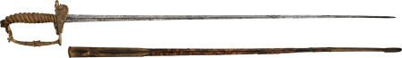 52121: Rare Model 1840 U.S. Engineer Officer's Sword by