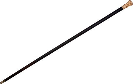 52009: Great Gold Headed Cane Presented to Civil War Ge