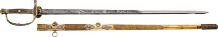 52116: Magnificent Jeweled Ames Presentation Sword to C