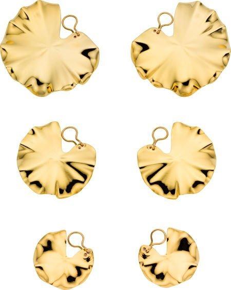58001: Gold Earrings, JAR