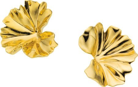 58008: Gold Earrings, JAR, French