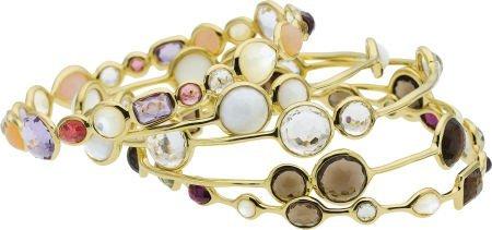 58009: Multi-Stone, Gold Bracelets, Ippolita
