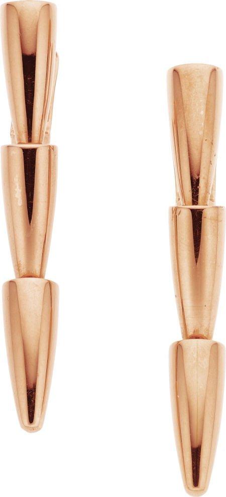 58010: Gold Earrings, Vhernier