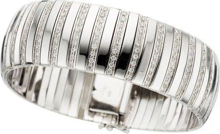 58017: Diamond, White Gold Bracelet