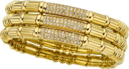58023: Diamond, Gold Bracelet