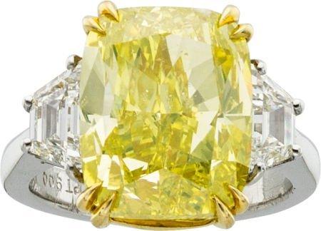 58478: Fancy Intense Yellow Diamond, Diamond, Platinum,