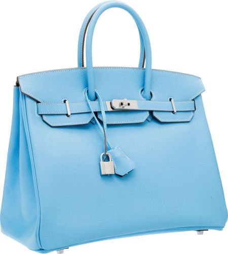 56023: Hermes Limited Edition Candy Collection 35cm Blu
